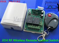 Wholesale 2 Channel RF Wireless Remote Control Receiver Momentary Switch System MHZ MHZ