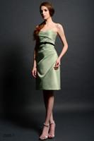 Sash c037 - 2014 New Sexy Fashion Sweetheart Short Bridesmaid Dresses Stain Sash Evening Pageant Prom Dress Custom Made US Size C037