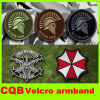 Wholesale 2014 new D CQB Article Army flag armband embroidered Velcro Army logo embroidered Velcro armband military badge insignia military L