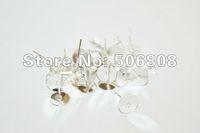 Wholesale 200 Pieces Pair Silver Stud Earring Blanks FREE Rubber Backs mm Glue Pad mm X mm Nickel Free Lead Free