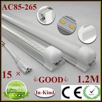 T8 18w SMD2835 10Pcs ( tube+base ) integrated SMD2835 LED tube light lamp LED fluorescent tube, T8 1200mm 1.2M 18W 1800lm t8 led tube AC85-265V+CE&ROHS