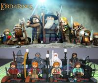 Wholesale 8pcs Super Heroes Avengers The Lord of the Rings Hobbit Mini action figures Minifigures Building Block sets children Bricks Toys