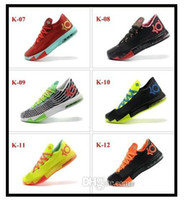 Mid Cut Men Spring and Fall 2014 New Mens Basketball Shoes Outdoor Tenis Kevin Durant VI KD 6 Mens Basketball Shoes Athletic Kd6 Sneakers KD Men Sports Shoes US7-12