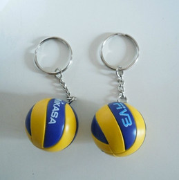 Wholesale Sport Beach volleyball PVC cm keychain key ring business gifts style