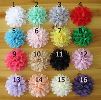 Wholesale Mix Color Chiffon Flowers DIY Fabric Flower Girl s Hair Accessories Handmade Flower