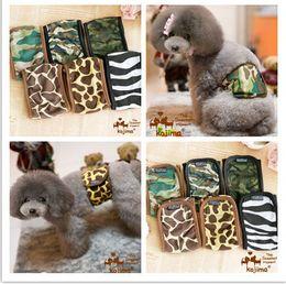 Wholesale Kojima male dog pet Camouflage zebra physiological pants with a pet dog panties diapers sanitary pants