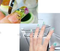 Full Natural Tips Square  Nail Tips 1200pcs Acrylic False Nail Art Tips DIY pre Design Designed Nail Tips available Free Shipping 4055