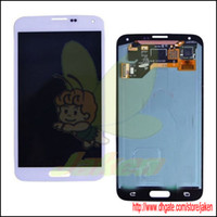 For Samsung Galaxy S5 I9600 LCD Screen Panels White Hot Sale Original White LCD Complete With Digitizer Touch Display Screen For Samsung Galaxy S5 I9600 LCD Replacement Free By DHL EMS Fedex