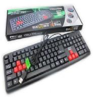 Cheap free shinppingWholesale finger king K01 Gaming Keyboard USB keyboard waterproof laptop computer keyboard PS 2 external keyboard