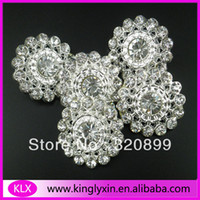 asian loop - 150pcs mm Oval Crystal Rhinestone Brooch With loop For invitation card Costume Wedding LX G40