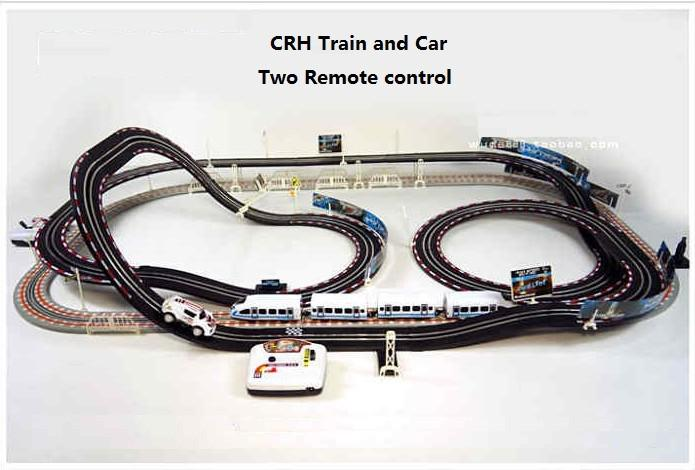 free shipping rc crh train track electric motor train toy best gift for kid long rail car remote control toys