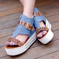 Hot selling Denim Flat Shoes Sandals Canvas Shoes 2014 New P...