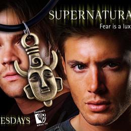 Wholesale 1pcs Supernatural Jensen Ackles Dean Winchester Protection Amulet necklace a382
