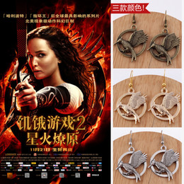 Wholesale European film and television accessories Hunger Games ridicule birds earrings three color options personalized earrings a374