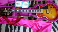 6 Strings lp guitar - Newest Custom Cherry Burst Solid Electric Guitar LP guitars High Quality