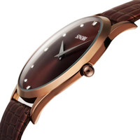 Wholesale New Arrival SINOBI Brand Leather Strap Watch for Mens Man Fashion Style Quartz Military Waterproof Wristwatch