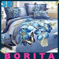 Wholesale 2014 New Reactive printed d quilt Queen bed bedding comforter set cotton bedclothes duvet cover Bed Sheet pillowcases Colors