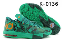 Wholesale Outdoor Basketball Shoes DS KD VI EASTER Kevin Durant Camo Lucid Green Air Zoom Sports Shoes Fast Shippment Men Athletics Sneakers Trainer