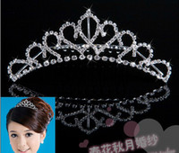 Tiaras&Crowns Rhinestone/Crystal  Shining Wedding Bridal Crystal Veil Tiara Crown Headband Bridal Accessories Tiaras Hair Accessories hg3