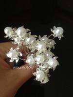 Hairpins White Bohemian 200Pcs Wedding Bridal Pearl Flower Crystal Hair Pins Clips Bridesmaid