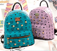 Wholesale The New MCM backpack handbag fashion students travel bag