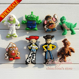 Wholesale 100Pcs Toy Story PVC Jibbitz Shoe Charms Fit for shoes & bands ,Mixed 8 Models,charm decoration,shoe accessories ,Kids toy