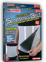 slim away - Adjustable Slimming Belt Slim Away Weight Loss Belt Zippers and Sauna Action Fitness Belts Body Waist Shaper