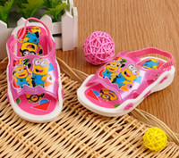 pvc sandals - 2014 new style children s summer sandals pvc shoes kid s sandals boys girls unsex cartoon sandals slippers sound