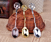 Wholesale Hot Sale Fashion royal wind spoon vintage gold and silver coffee spoon ice cream spoon