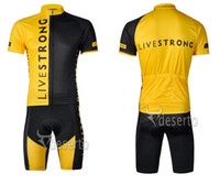 Wholesale 2014 Newest LIVESTRONG Cycling Team Cycling Jersey SetsBib Cycling Shorts Pro Cycling Kit Multicolor Compressed Breathable Men Cycling Wear