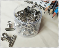 Wholesale High qulity metal round clips metal stainless Steel round binder clips iron paper clamps document folder18mm A3