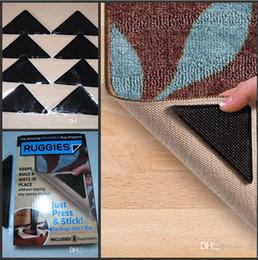 Wholesale set of Cheap non slip mat gripper anti skid carpet mats RUGGIES rug grip grippers floor bath supplies