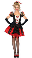 Sexy Costumes People Princess Sexy Deluxe Queen of Hearts Women Costume Halloween Fancy Dress Alice in Wonderland