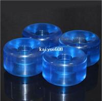 Wholesale 64mm X mm Crystal Blue A PU Skateboard Wheels For Longboard