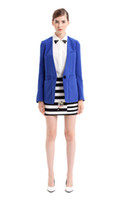Women Dress Suit Polyester 2014 Latest New Fashion Women's Brand Blazers Tailored Collar Slim Fit Candy Solid Color One Button Ladies' Blazers In Stock