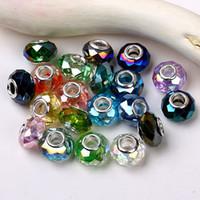 Precio de Mixed crystal beads-100pcs / lot mezcló los resultados de la joyería europea apta de 9x14m m de los granos de cristal del encanto cristalino hecho punto