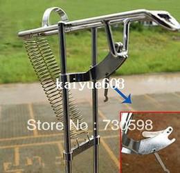 Caña de pescar en venta en Línea-Venta Polo Ángulo automático de doble muelle de pescado de poste con brazo estándar Holder caña de pescar