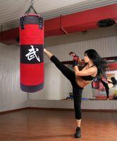 Wholesale boxing sandbag EMPTY cm Training Fitness MMA Boxing Bag Kick MMA Fight Bag Sand Punch Punching Sandbag