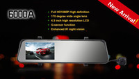 1 channel 1.5 1920x1080 car dvr 6000A Car Rearview Mirror Camera Recorder DVR Dual Lens 4.3' TFT LCD HD 1920x1080p Rear view camera 720P with GPS G-sensor