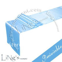Wholesale For Wedding pieces Periwinkle Satin Table Runner Wedding Decoration