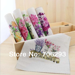 Wholesale Hand dyed Assorted Cotton Linen Printed Quilt Fabric For DIY Sewing Patchwork Home Textile Decor x20cm Flowers seriesFor DIY