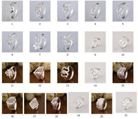 Wholesale Silver ring with micro pave set cubic zirconia Sterling Silver fit European mix style