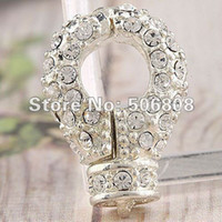 Clasps & Hooks Jewelry Findings Guangdong China (Mainland) 20PCS LOT Metal Alloy Silver Plated Crystal Magnetic Lobster Clasp Jewelry Findings, Free Nickel And lead