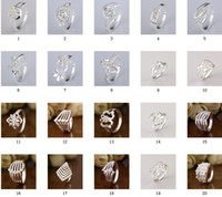 Wholesale Mixed Style Silver Zircon Ring Wedding ring The best party gift
