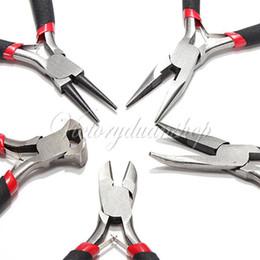 Wholesale Jewellery Mini Pliers Tools Kit Cutter Chain Round Bent Nose Beading Making Repair Jewelery Supllies