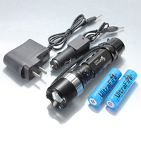 Wholesale UltraFire CREE XM L T6 LED Lumen Zoomable Rechargeable Flashlight Torch x Battery DC AC Car Charger