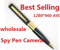 Wholesale 2016 hot selling avi Spy pen Camera hidden Pen DVR Micro SD Card hot selling Hidden camera coolcity2012