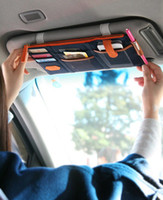 Wholesale Sun Visor Point Pocket bag Multifunction Car Organizer Oxford Cloth Bag Cell Phone Card Bills Debris bag Cars Mini Storage Container bags