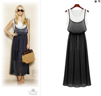 Work Bohemian A Line The new European and American women's clothing Women Vest sundresses chiffon dress high quality casual dress clothes