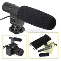 Wholesale new DV Video Stereo Microphone For Canon T3i T2i D D D For Nikon D3S D7000 For Pentax K7 K DSLR Camera